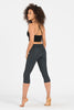 Plain Charcoal Crop Activewear Legging