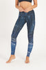 Synergy Blue High Waist Printed Yoga Legging - Full Length
