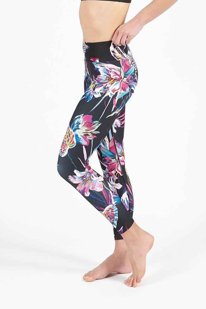 Neon Kingdom High Waist Printed Legging - 7/8
