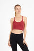 Ellis Crop Bra - Cherry