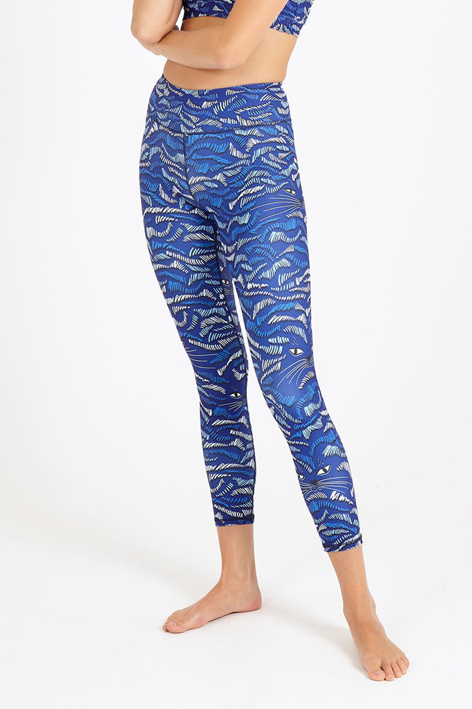 Feline High Waist Printed Legging - 7/8