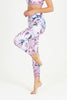 Orchid Mist High Waist Printed Legging - 7/8