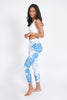 Shibori Recycled High Waist Printed Legging - 7/8