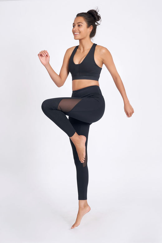 Lucidity Ankle Length Legging - Black