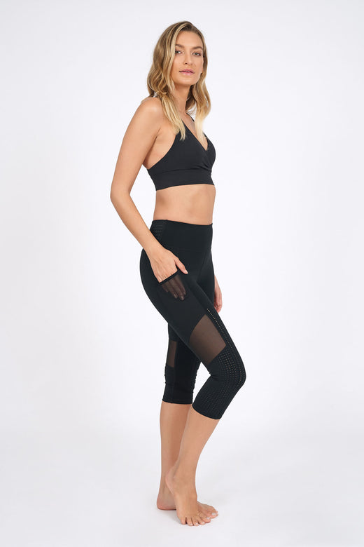Continuum Crop Legging - Black