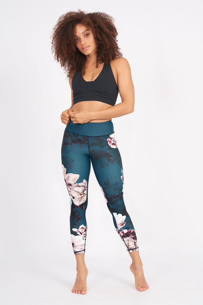 Moonflower Recycled High Waist Printed Legging - 7/8