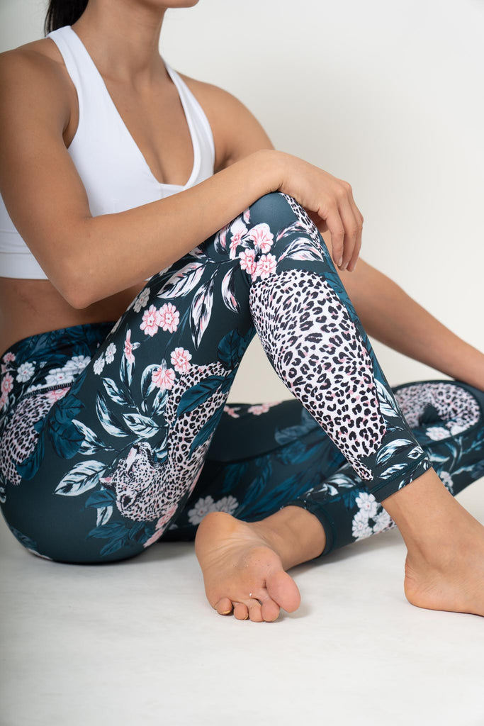 Jungle Nights Recycled High Waist Printed Legging - 7/8