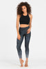 Shine Recycled High Waist Printed Legging - 7/8
