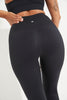 High Waisted Wonder Luxe Plain Legging 7/8 - Black