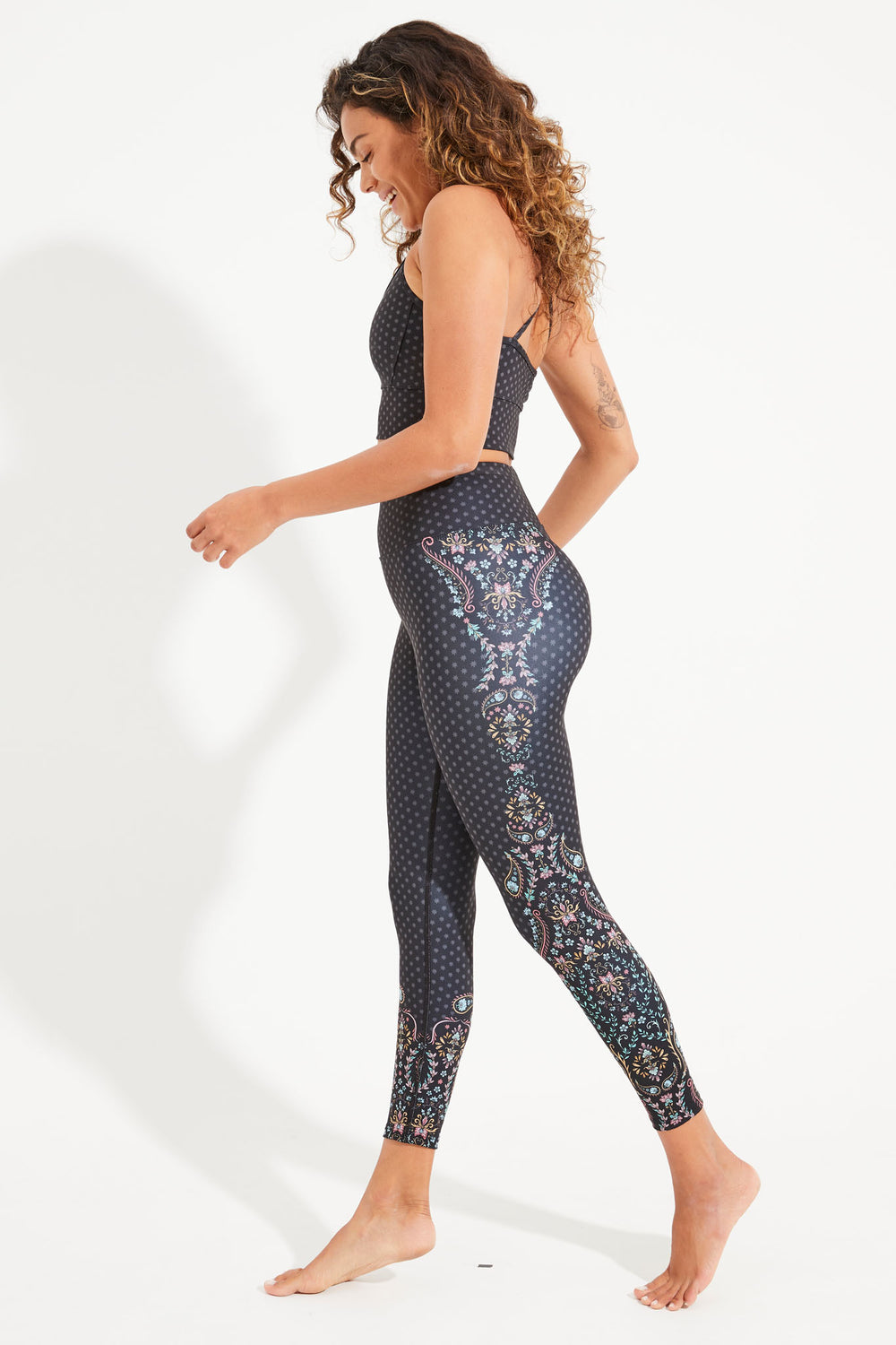 Bohemian Soul Recycled High Waist Printed Legging - 7/8