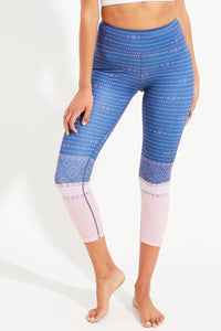 Bower Recycled High Waist Printed Legging - 7/8