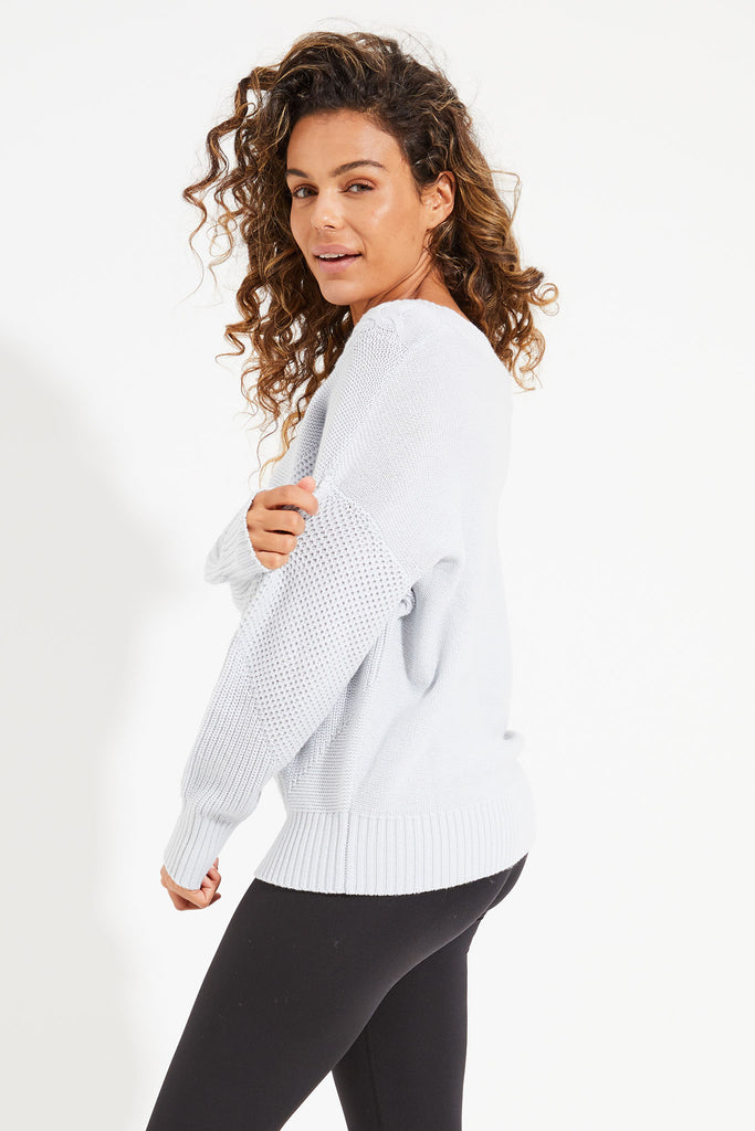 Eternity Cable Knit Sweat - Snow