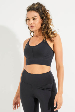 Wonder Luxe Ellis Crop Sports Bra - Black