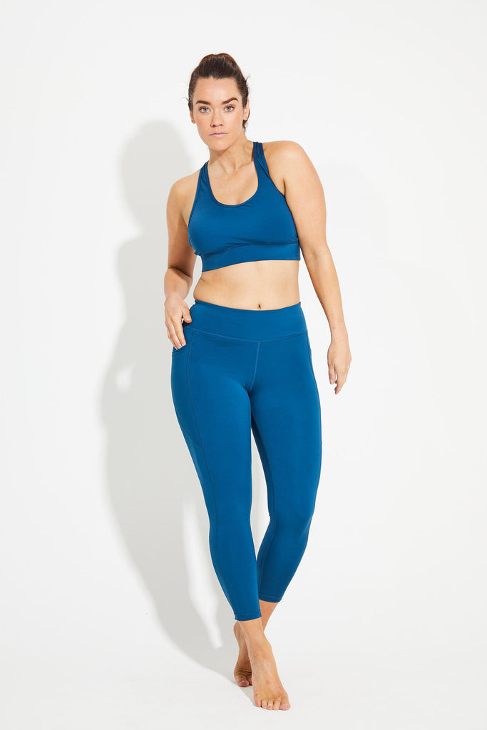 Wonder Luxe Bondi Pocket Legging 7/8 - Emerald