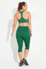 High Waisted Wonder Luxe Legging Crop Length - Jade