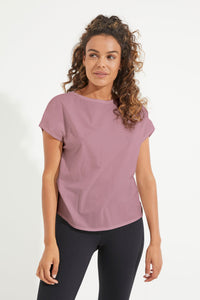 Deluxe Relaxed Tee - Dusty Mauve