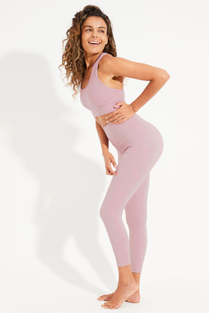 Balance 7/8 Legging - Dusty Mauve