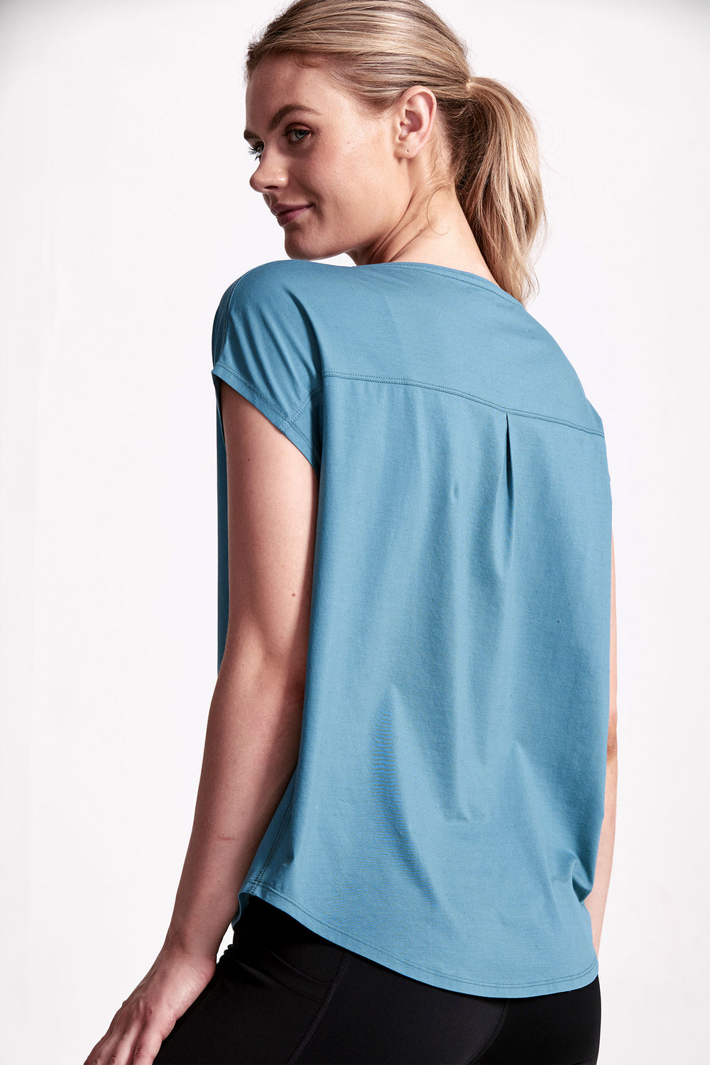 Deluxe Relaxed Tee - Mineral Teal