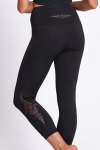 Aztec Empire Recycled Foil Legging 7/8 - Black