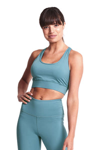 Racer Back Sports Bra - Mineral Teal