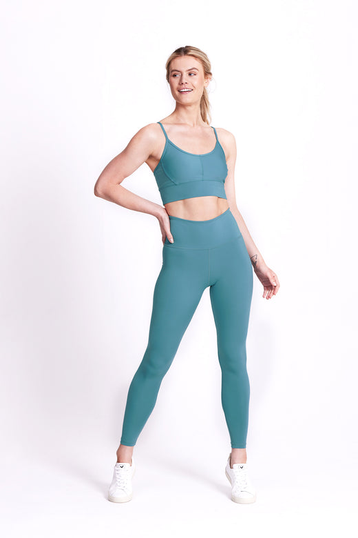 Balance Full Length Legging - Mineral Teal