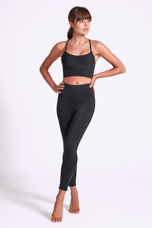 Scallop Legging 7/8 - Black