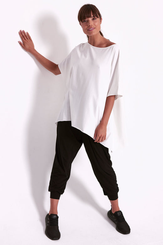 Oversized Drape Tee - White