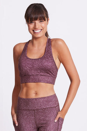 Racer Back Sports Bra - Day Dream