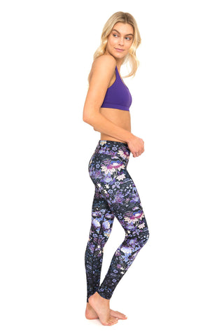 Japanese Garden High Waist Printed Yoga Legging - Full Length