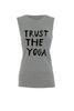 Trust the yoga Bamboo Boyfriend Tee -Grey Marl