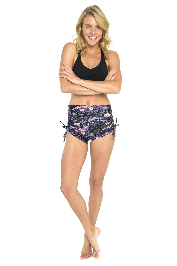 Japanese Garden High Waist Printed Shorts
