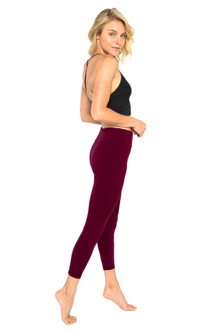 Plain Marsala 7/8 activewear and yoga Legging