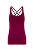 Marsala Prana Flow Sports Tank