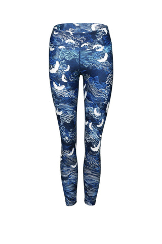 In Flight High Waist Printed Activewear & Yoga Legging - 7/8