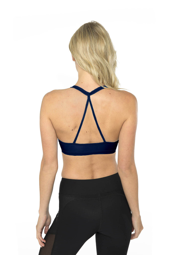Triangle Back Sports Bra - Midnight