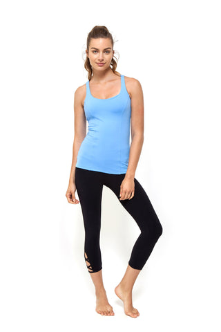 Baby Blue Prana Flow Sports Tank