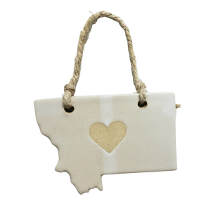 Montana Heart Ornament