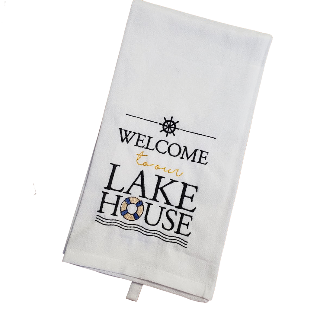 Lake House Tea Towel