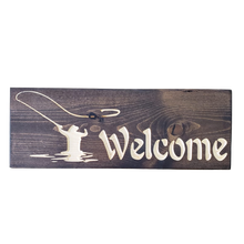 Load image into Gallery viewer, Fly Fishermen Welcome Sign