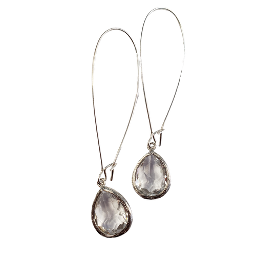 Clear Framed Glass Earring