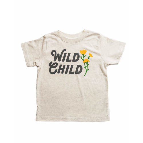 Wild Child Toddler Tee - Natural Heather