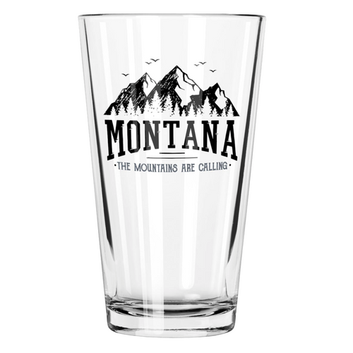 Montana Mountains are Calling Pint Glass