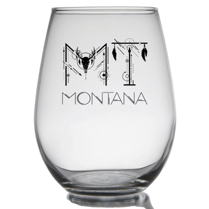 MT Montana Stemless Wine Glass