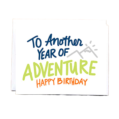 Another Year of Adventure- Birthday Card