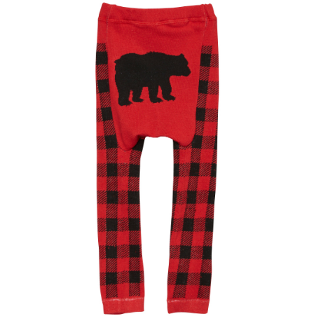 Black Bear Plaid Cotton Leggings
