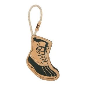 Natural Leather Boot Tug Toy