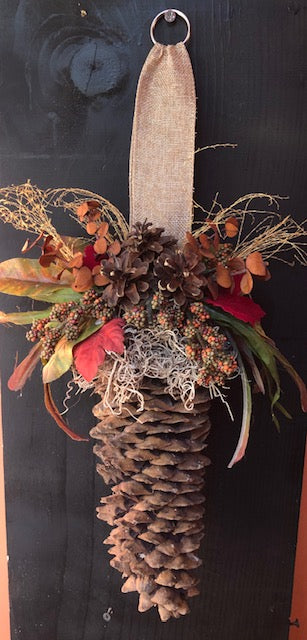 Pinecone Door Hanger