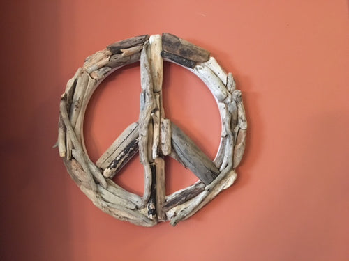 ☮ Driftwood Peace Sign