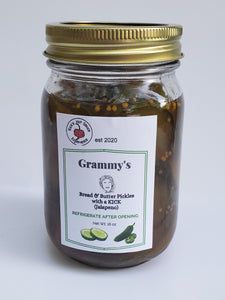 Grammy's Bread & Butter Pickles with a kick