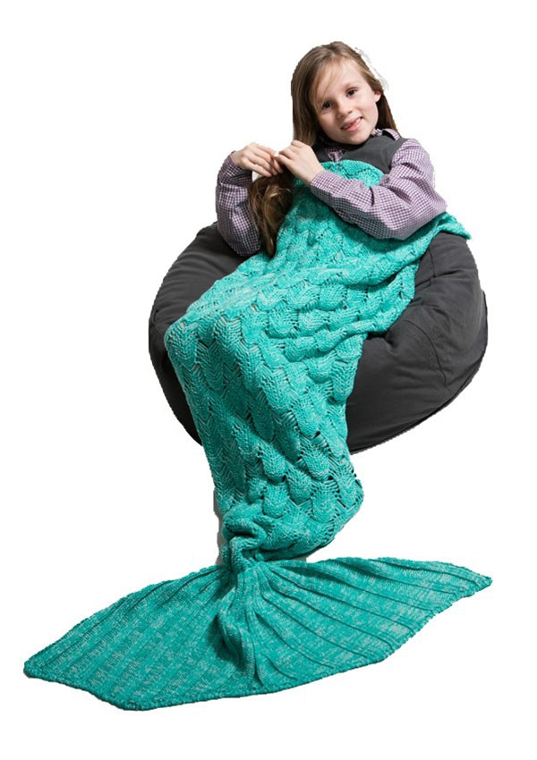 Mermaid Tail Blanket - Aqua Green